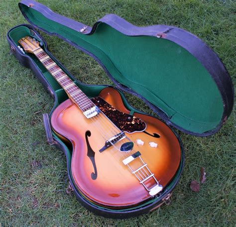 Beautiful & Rare 1958 Roger Junior Archtop Guitar With