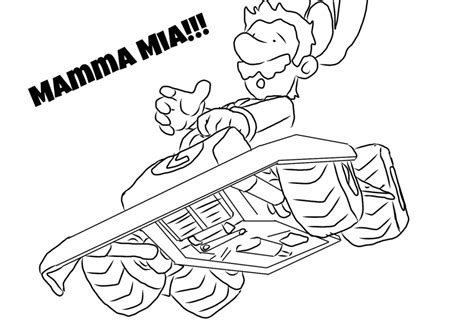 Mario Kart Coloring Page - Coloring Home