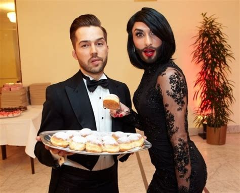Conchita Wurst Shows Off Her Husband   Meaws - Gay Site