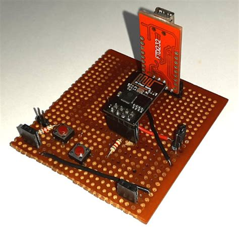 IoT Based Panic Button Project using ESP8266-01