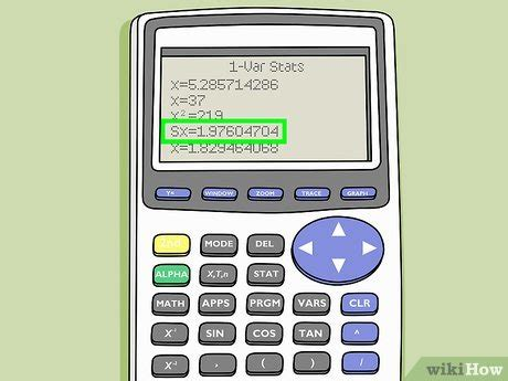How to standard deviation on ti 83 plus - pitch