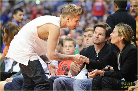 Justin Bieber Spends Mother's Day Courtside at the