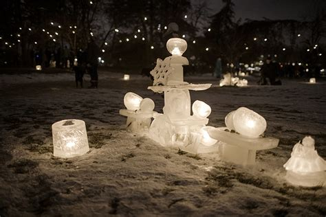 A Trail of Lights at the Luminary Loppet in Minneapolis