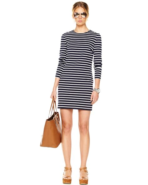 Michael Kors Exclusive Mariner Striped Dress in Blue - Lyst