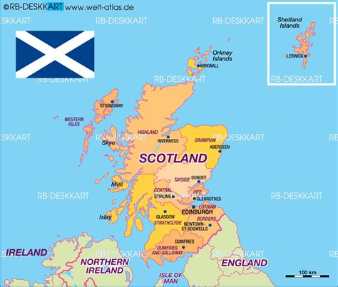 Map of Scotland, politically (State / Section in United