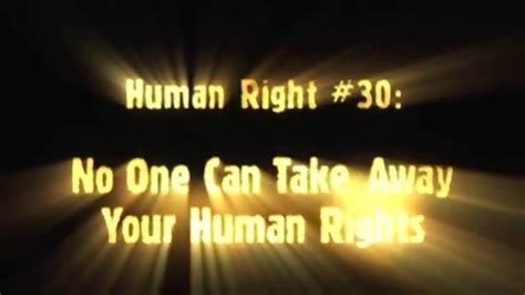 Human Rights Video #30: No One Can Take Away Your Human