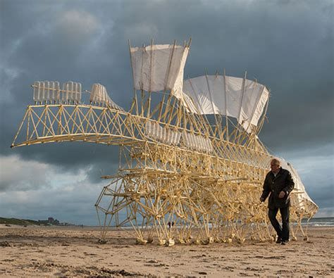 Strandbeests—Giant, Wind-Powered, Centipede-Like Robots—To