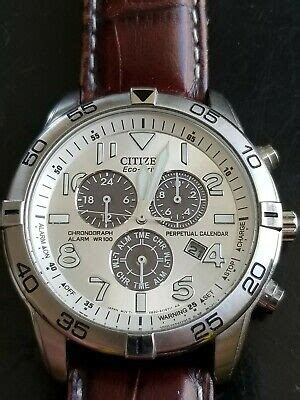 CITIZEN ECO-DRIVE WR-100 Chronograph Watch Model GN-4W-S