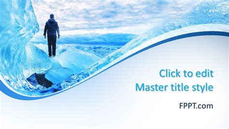 Free Glacier PowerPoint Template - Free PowerPoint Templates