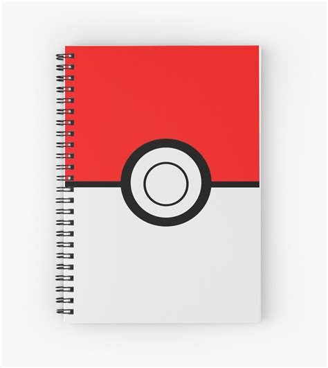 """""""Pokemon Ball"""" Spiral Notebooks by umeimages   Redbubble"""