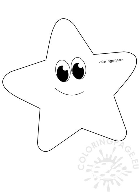 Whimsical Cartoon Star clipart printable – Coloring Page