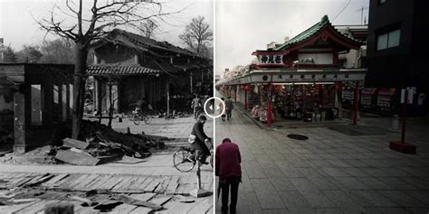 Tokyo Firebombing Before And After Pictures Show How City