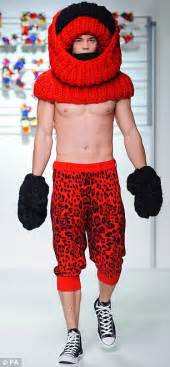 More knitwits on the catwalk: Male models don oversized