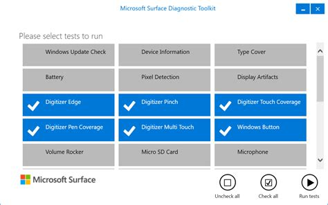Viewing Microsoft s Surface Diagnostic Toolkit 2