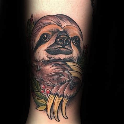70 Sloth Tattoo Designs For Men - Ink Ideas To Hang Onto