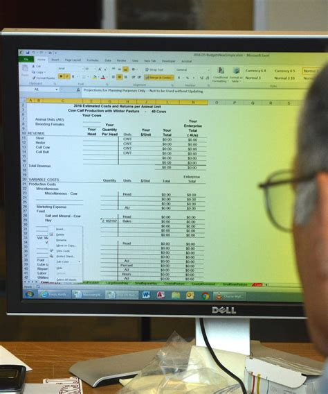 Develop A Spreadsheet Using Computer Software in Agrilife
