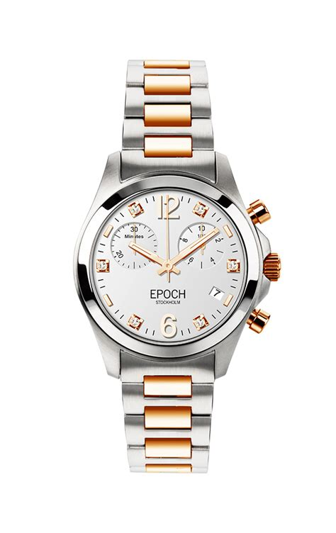First Lady Chronograph Gold White - EPOCH Stockholm